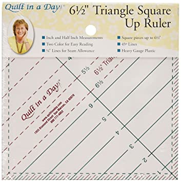 Amazon.com: Quilt In A Day 6-1/2-Inch by 6-1/2-Inch Triangle ... : quilt in a day ruler - Adamdwight.com