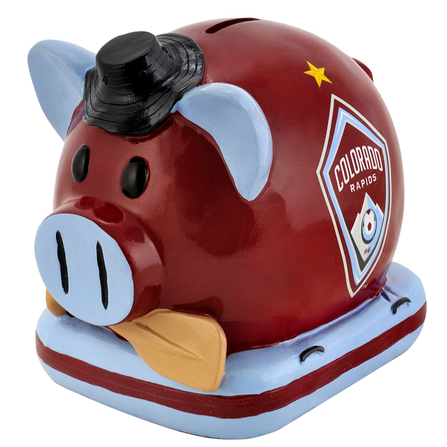 MLS Colorado Rapids Resin Large Thematic Piggy Bank   B0075K02JC