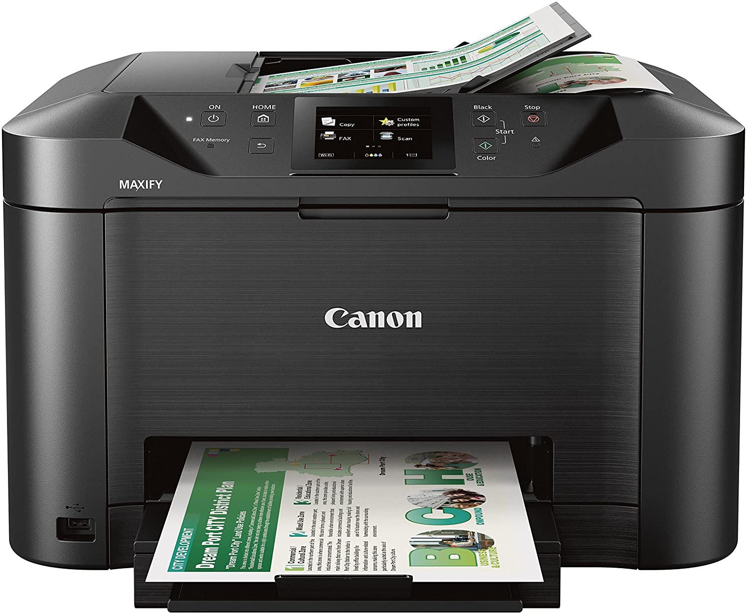 Canon Office and Business MB46 All-in-One Printer, Scanner, Copier and  Fax, with Mobile and Duplex Printing, Model:46C46