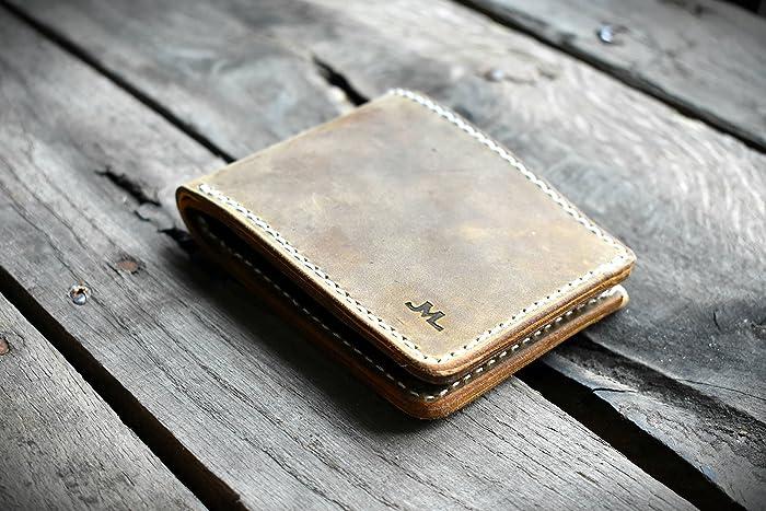 92e84aa48251 Amazon.com: Mens Wallet, ALASKA MADE leather wallet, Minimal leather ...