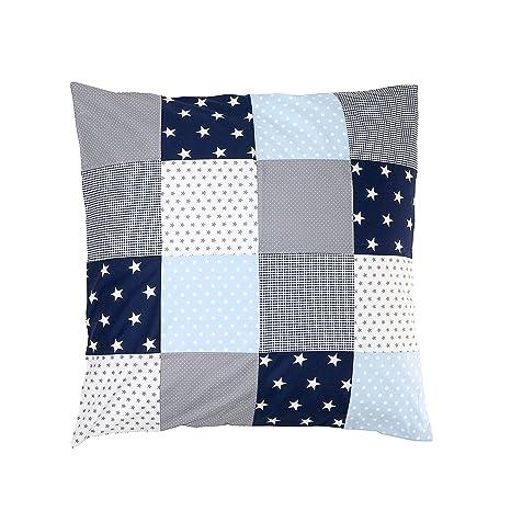 Funda nórdica para bebé de ULLENBOOM ® de 80 x 80 cm con de color azul