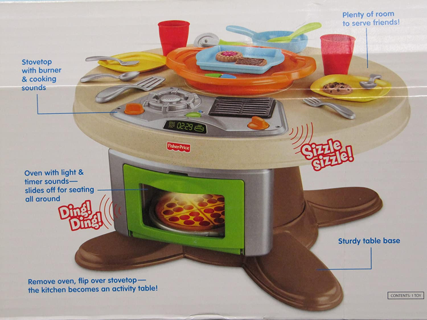 Awesome Amazon.com: Fisher Price Servinu0027 Surprises Kitchen U0026 Table With Bonus Ice  Cream Set Combo: Toys U0026 Games