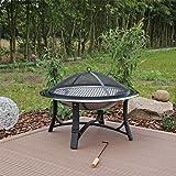 Feuerschale Edelstahl FS2 Feuerstelle Garten mit Grillrost