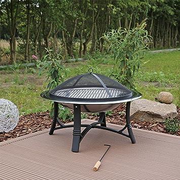 Feuerschale mit Grill Grillschale Feuerkorb Feuerstelle Garten ...
