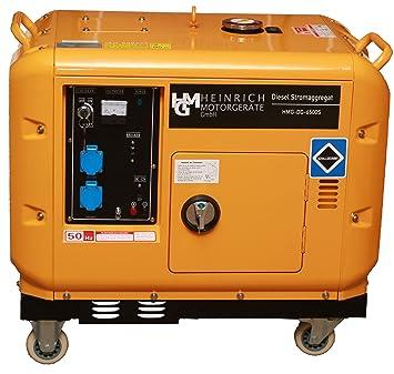 Diesel corriente HMG Físico de DG de 6500S Diesel Generadores de corriente 5,5 Kw 230 V: Amazon.es: Bricolaje y herramientas