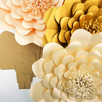 Paper Flower Template Kit Pattern DIY Make Your Own