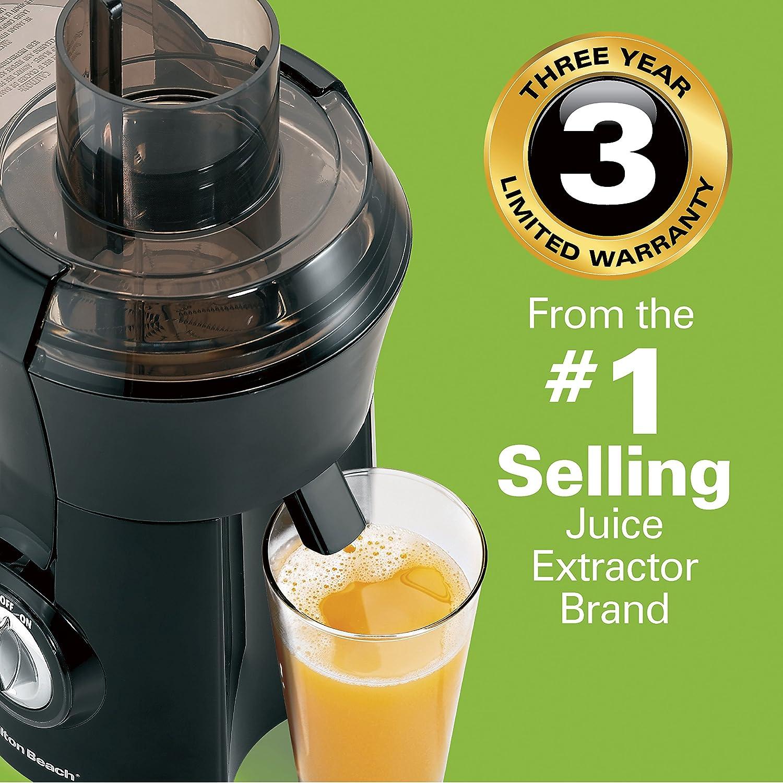 Hamilton Beach Juicer Machine, Big Mouth 3 Feed Chute, Centrifugal, Easy to Clean, BPA Free, 800W, 67601A , Black