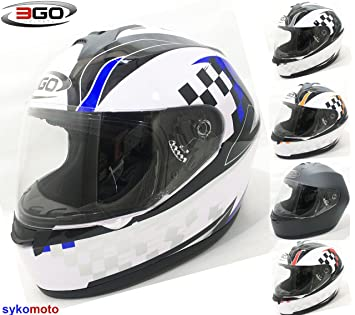 3 GO nuevo adultos E36 Full Face motocicleta moto scooter carretera legal Crash barato casco de