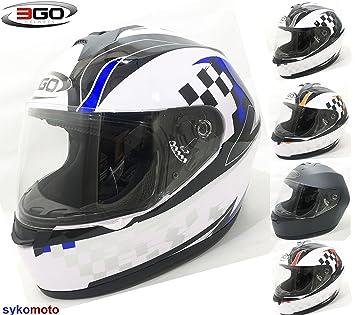3 GO nuevo adultos E36 Full Face motocicleta moto scooter carretera legal Crash barato casco de