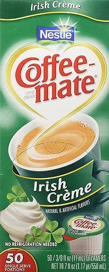 Coffee-Mate Irish Creme Liquid Creamer 50 Single Serve 3/8 FL OZ: Amazon.es: Hogar