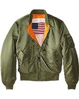 Alpha Industries Men's MA-1 Blood Chit Flight Bomber Jacket
