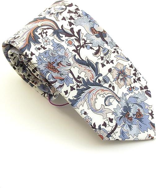 Van Buck - Corbata de algodón con estampado de flora: Amazon.es ...