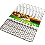 Spring Chef Baking Rack / Cooling Rack - Heavy Duty Stainless Steel, Oven Safe, 12 x 17 Inches Fits Half Sheet Cookie Pan