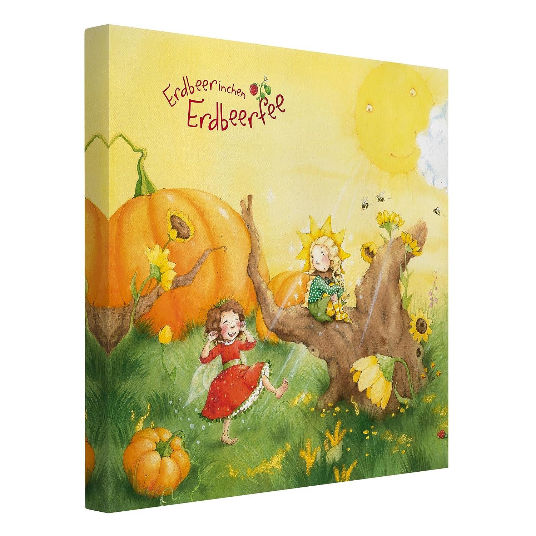 Bilderwelten Leinwandbild Erdbeerinchen Erdbeerfee - EIN sonniger Tag - 1:1, 80 x 80cm