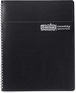 product image for House of Doolittle 2020 Calendar Planner, Monthly, Black Cover, 8.5 x 11 Inches, December - January (HOD26202-20)