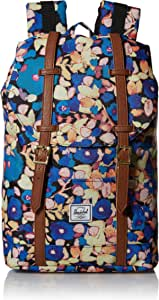 Herschel Retreat Backpack, Painted Floral/Tan Synthetic Leather, Mid-Volume 14.0L, Retreat Backpack