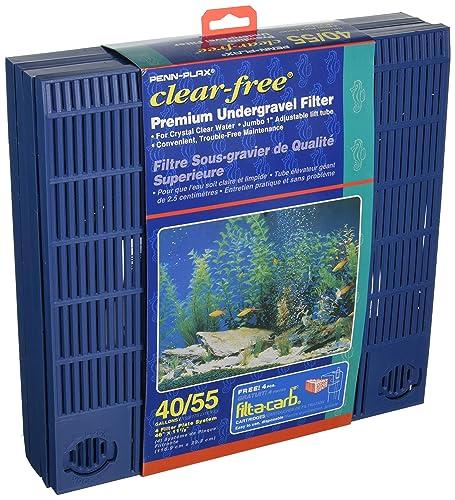 Penn Plax 40/55 Gallon Under Tank Filter, 11.5 by 46-inch
