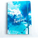 A5 Writer's Notebook. 192 ruled pages. Elastic closure. By Notebook Love. (Blue Indigo 'Inky Thinkings')