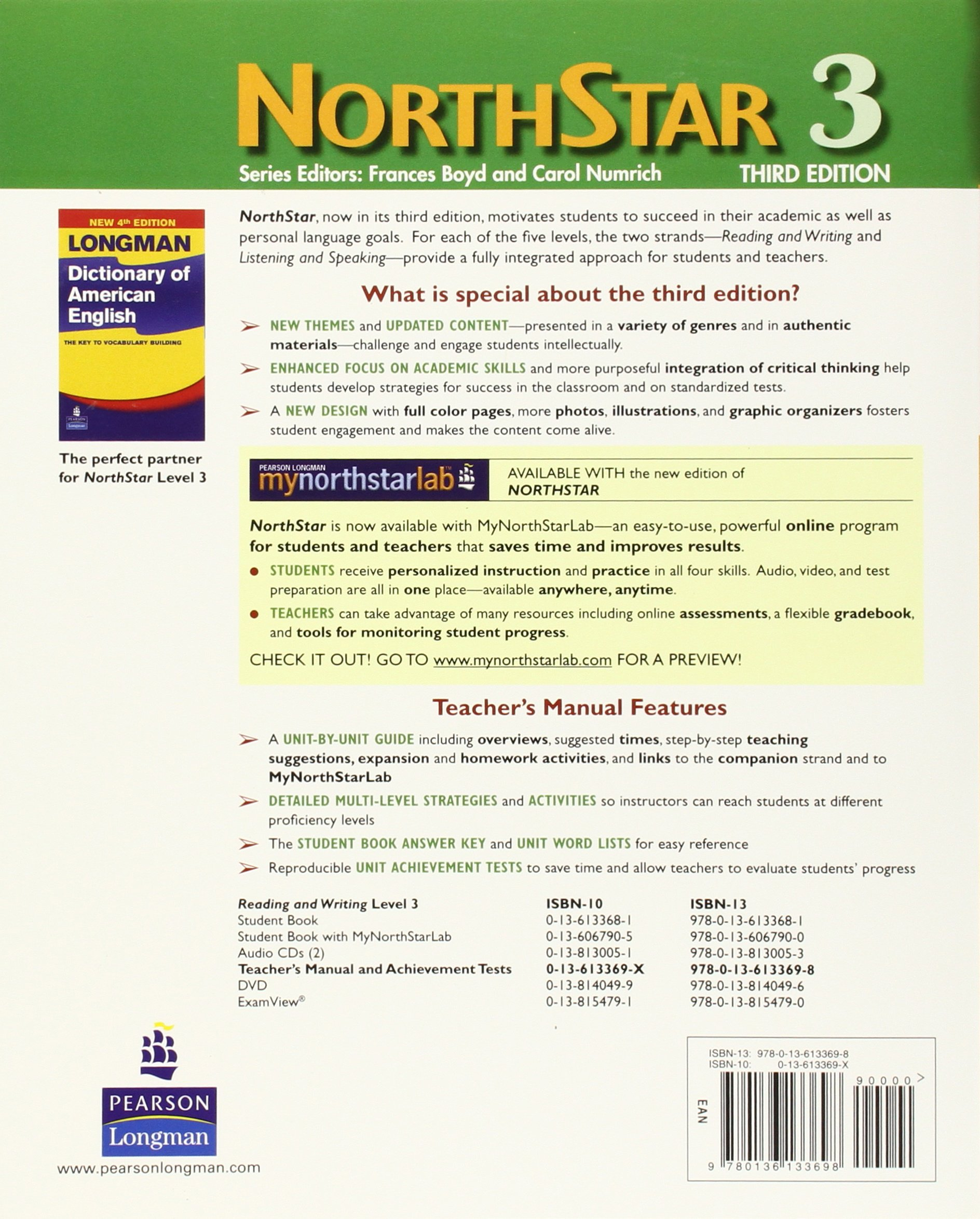 Northstar, Reading and Writing 3, Teacher's Manual and Unit Achievement  Tests: Sardinas & Barton: 9780136133698: Foreign Languages: Amazon Canada