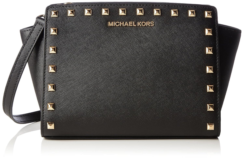 8306c1c1b0144d Michael Kors Md Messenger, Borsa a tracolla donna nero nero: Amazon.it:  Scarpe e borse