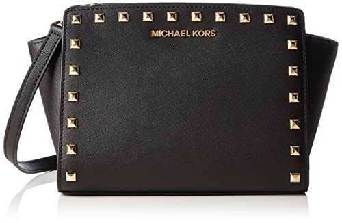 taglia 40 07253 5adad Michael Kors Md Messenger, Borsa a tracolla donna nero nero ...