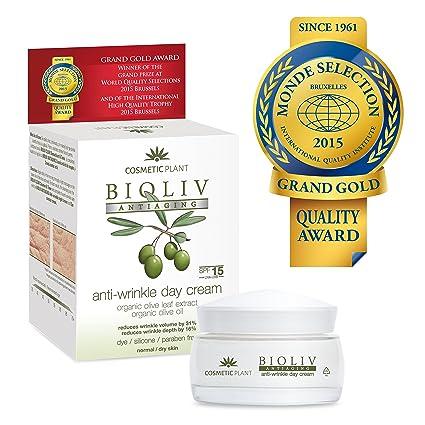 BIOLIV Crema de Día Antiarrugas, Anti-Edad Para Ojeras, Bolsas, Patas de