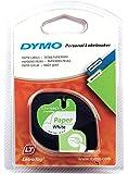 DYMO 12mm LetraTAG Paper tape - Cinta para impresoras de etiquetas (Papel, 1,2 cm, 4m, Ampolla, 1,9 cm, 14,9 cm), 1 unidad