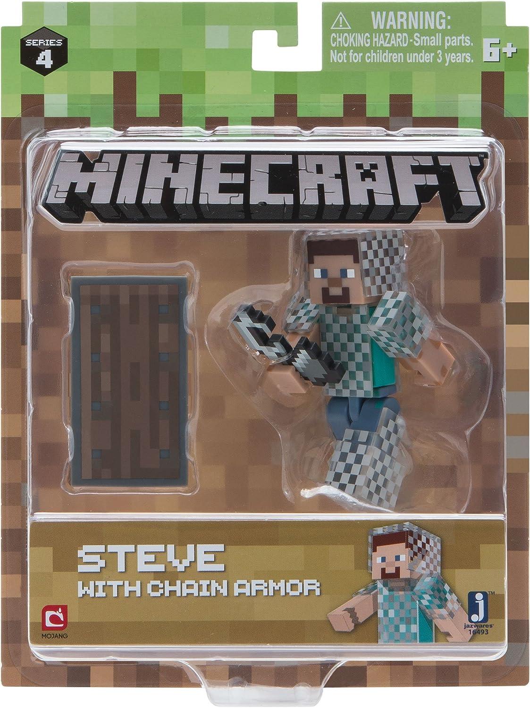 Minecraft 11 Steve in Chain Armour Figure: Amazon.co.uk: Toys