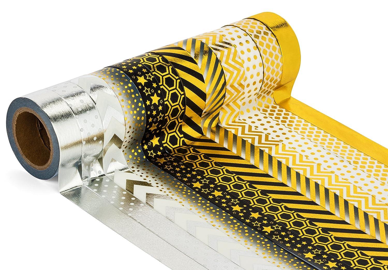 Amazon.com : Decorative Craft Masking Washi Tape (Set of 12 Rolls ...