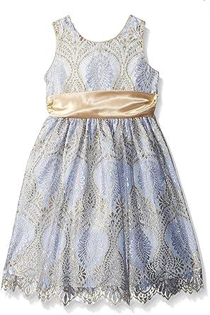 f2c62e903f1 Amazon.com  Jayne Copeland Little Girls  Border Lace with Satin ...