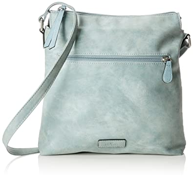 Bags Damen City Bag Umhängetasche, Blau (Ice Flow), 3x30x31 cm s.Oliver