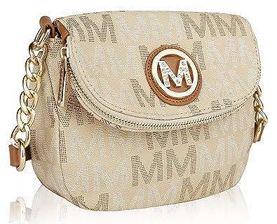 10ef0a673896 MKF Collection by Mia K. Farrow Camila M Signature Crossbody Bag Beige