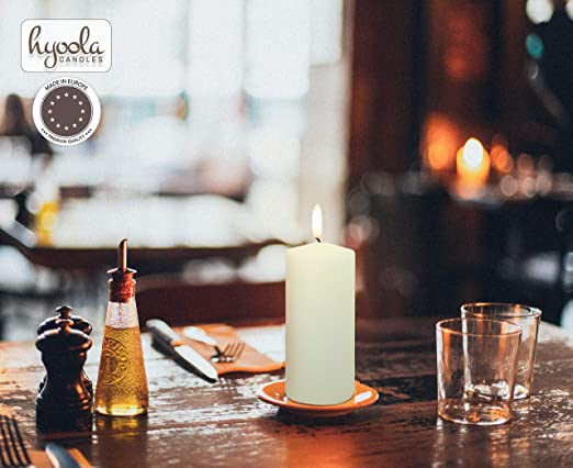 Bougie pilier 7,6/x 15,2/cm non parfum/ées Handpoured pour les mariages sans fum/ée Coton Wick par Melt Candle Company d/écoration de la maison la relaxation SPA