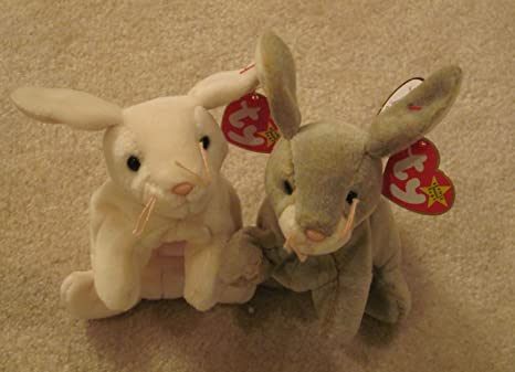 ca5b88eb22a Image Unavailable. Image not available for. Color  Two Ty Beanie Baby  Bunnies Rabbits - Nibbly ...