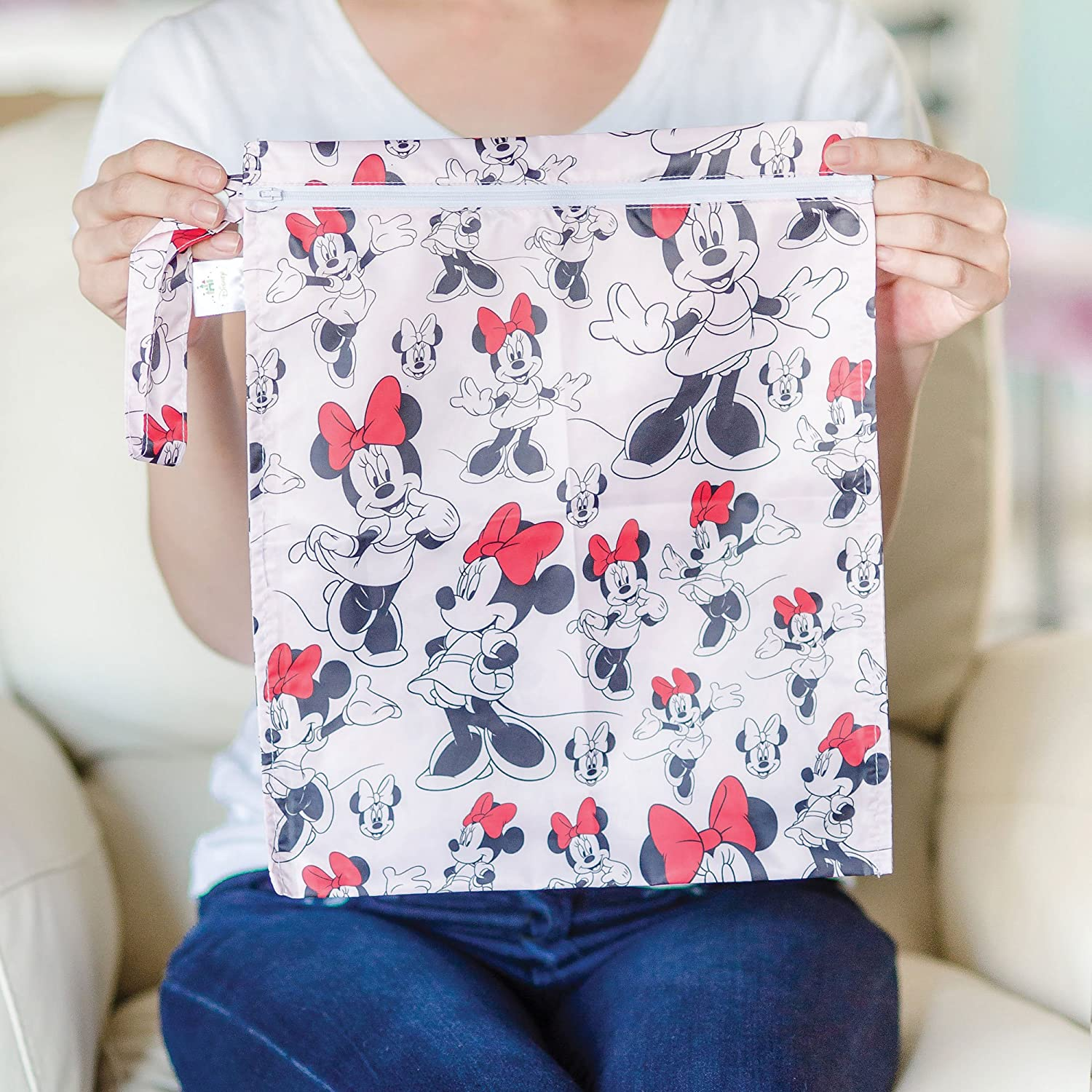 Minnie Mouse Classic Bumkins Disney Baby Zippered Wet Bag