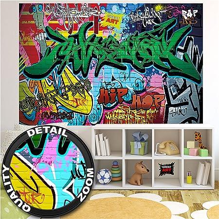 ✅ 140 cm x 100 cm – 1 parte ✔ Póster XXL con motivos de graffiti para su diseño de interiores ✔ Arte
