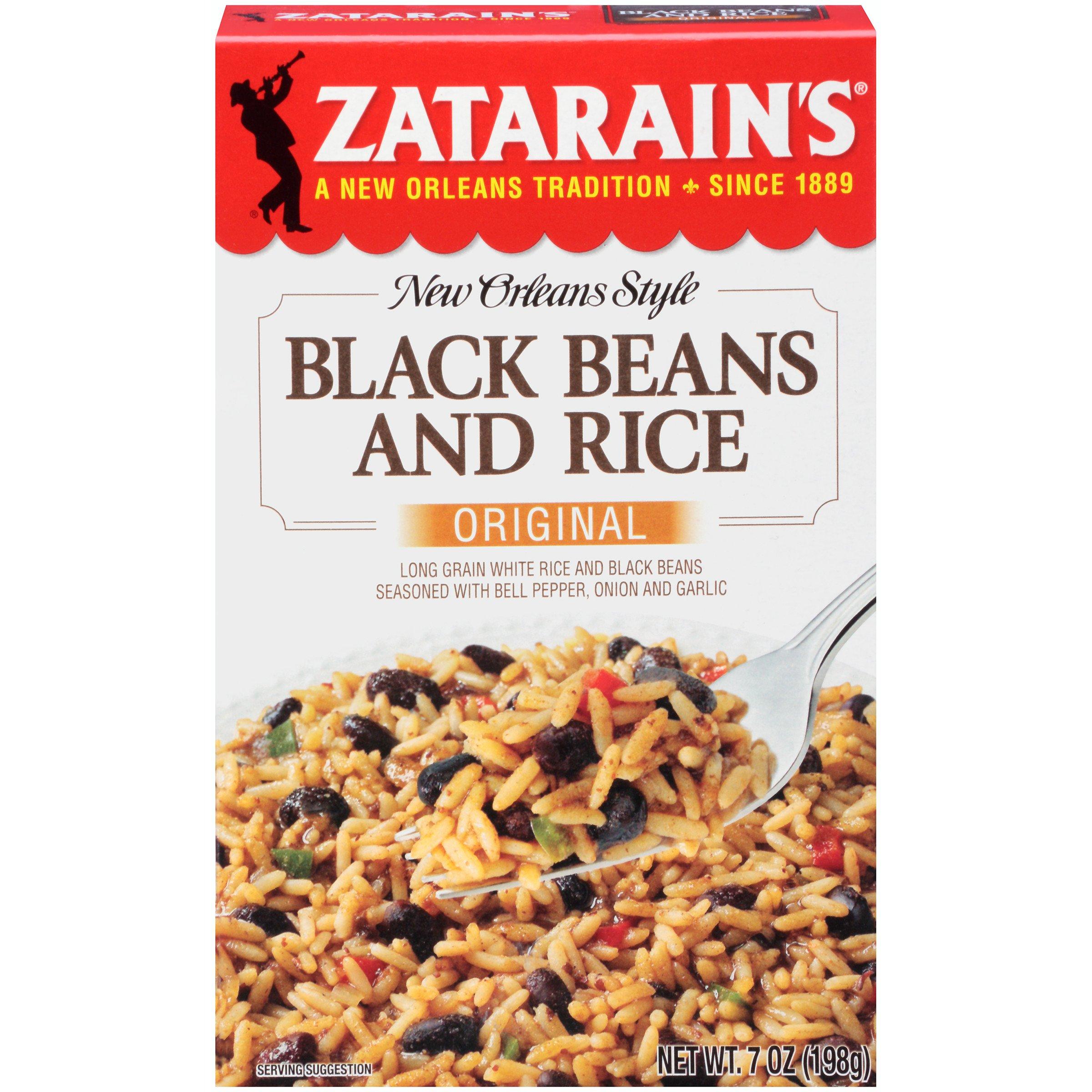 Zatarain's Black Bean & Rice, 7 oz (Case of 12)