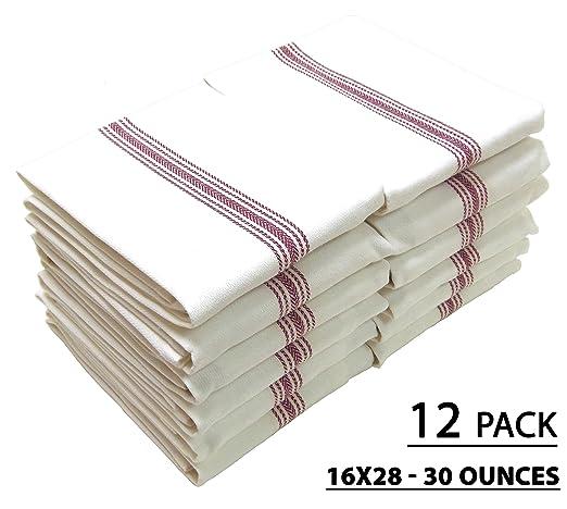 Scandia Red Stripe Cotton Bistro Napkins Set of 12