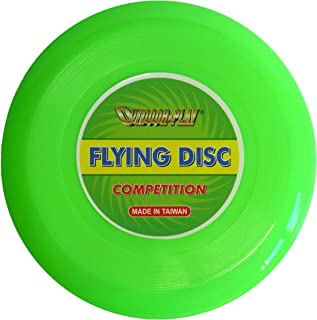 OUTDOOR PLAY Flying Disc Frisbee pour Compétition avec de Superbes caractéristiques de vol Vert Fluo Ø 25,4 cm JC-160A