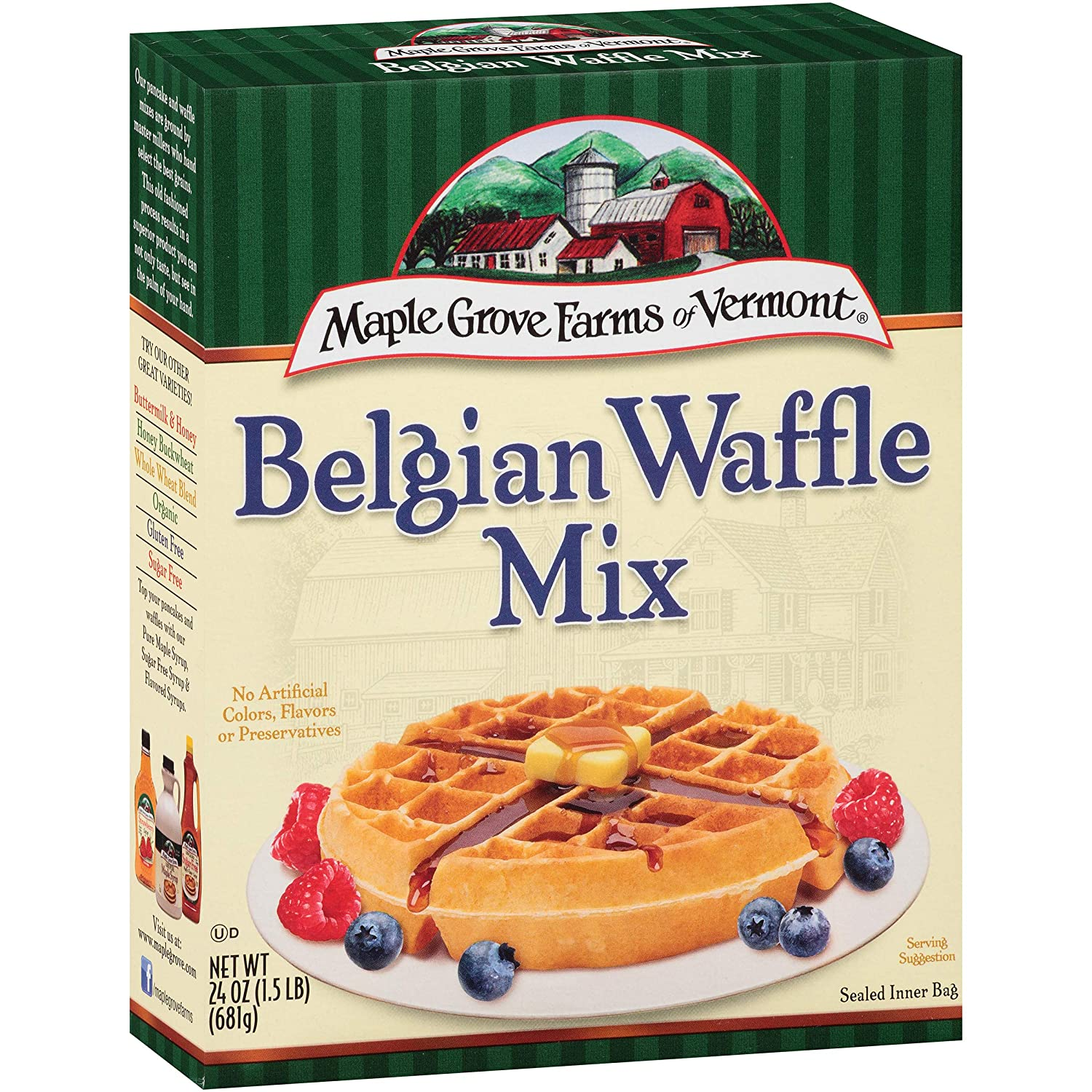 Maple Grove Farms Belgian Waffle Mix, 24 Ounce