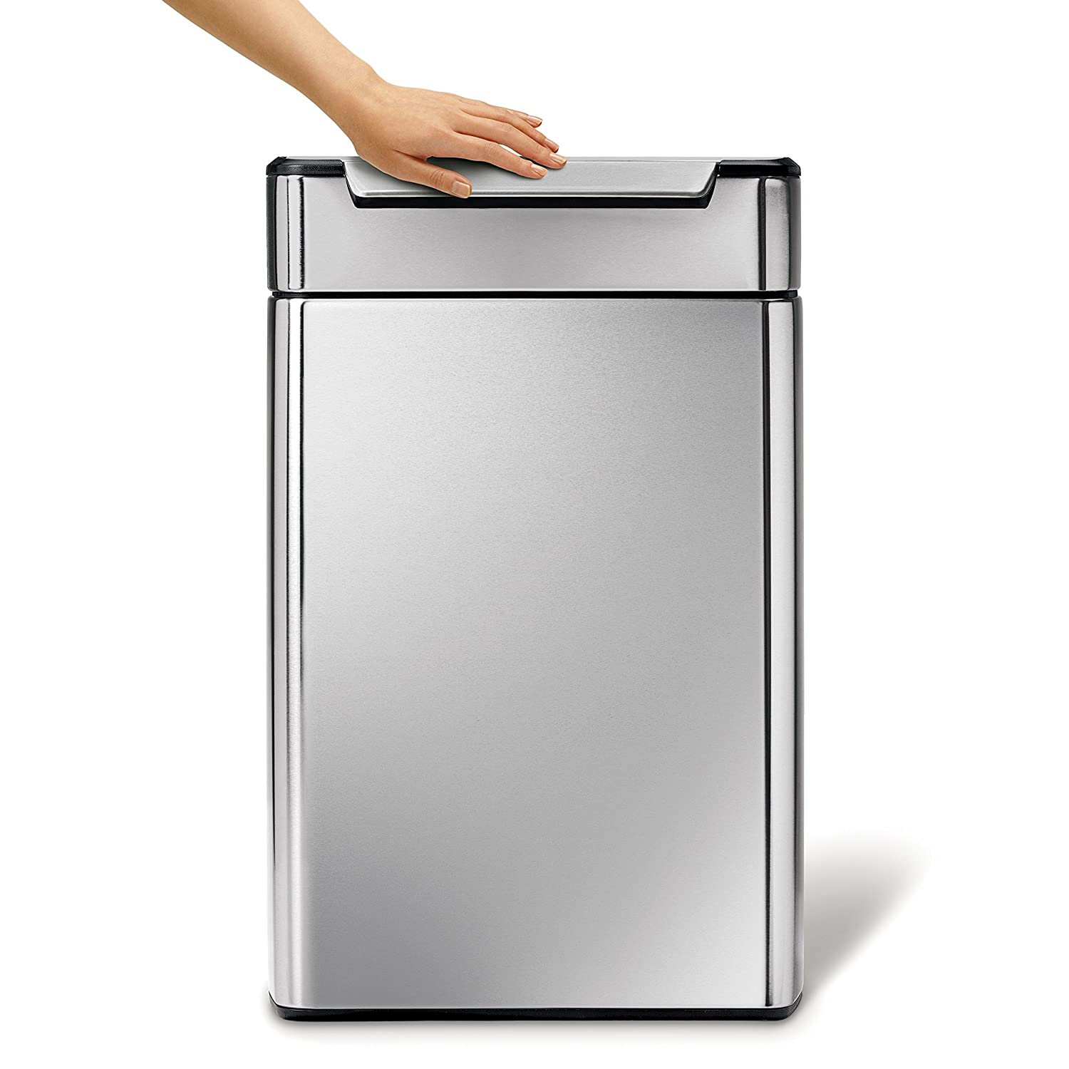 Simplehuman Rectangular Touch Bar Trash Can Stainless