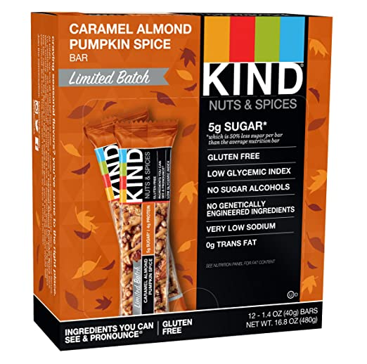 KIND Bar, Caramel Almond Pumpkin Spice, 12 Count