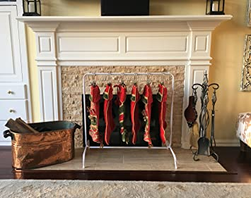 Amazon free standing christmas stocking hanger holder no