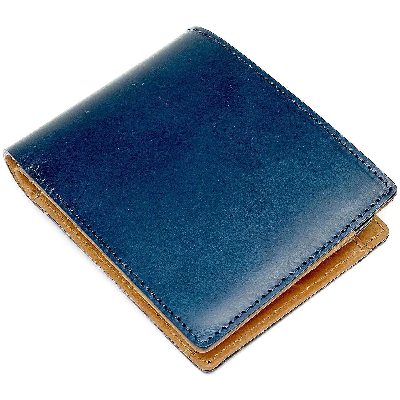 Eredità 財布 革の王様ブッテーロレザーで製作した二つ折り財布 メンズ 日本製 全4色 WL11 B074M4VWYL ネイビー ネイビー -