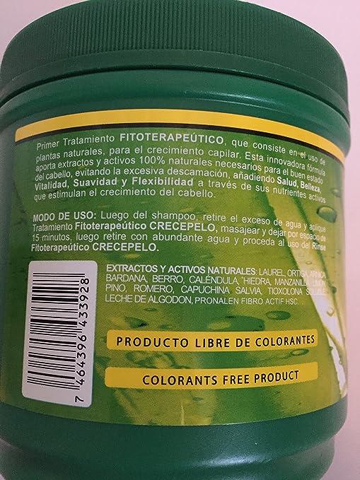 Amazon.com : Crecepelo Natural Phitoterapeutic Treatment/ Crecepelo Tratamiento Fitoterapeutico Natural 8 Oz : Beauty