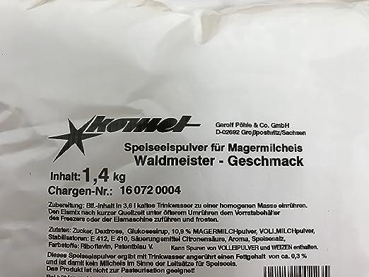 Komet Heidelbeer 1,4 Kg Eispulver Softeispulver Speiseeispulver Eismaschine