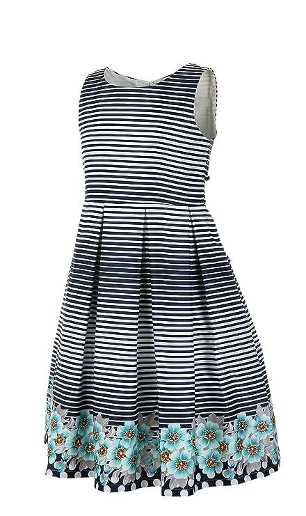 e732f53d69f Amazon.com  Emma Riley Girls  Satin A-Line Party Dress with Pleats  Clothing
