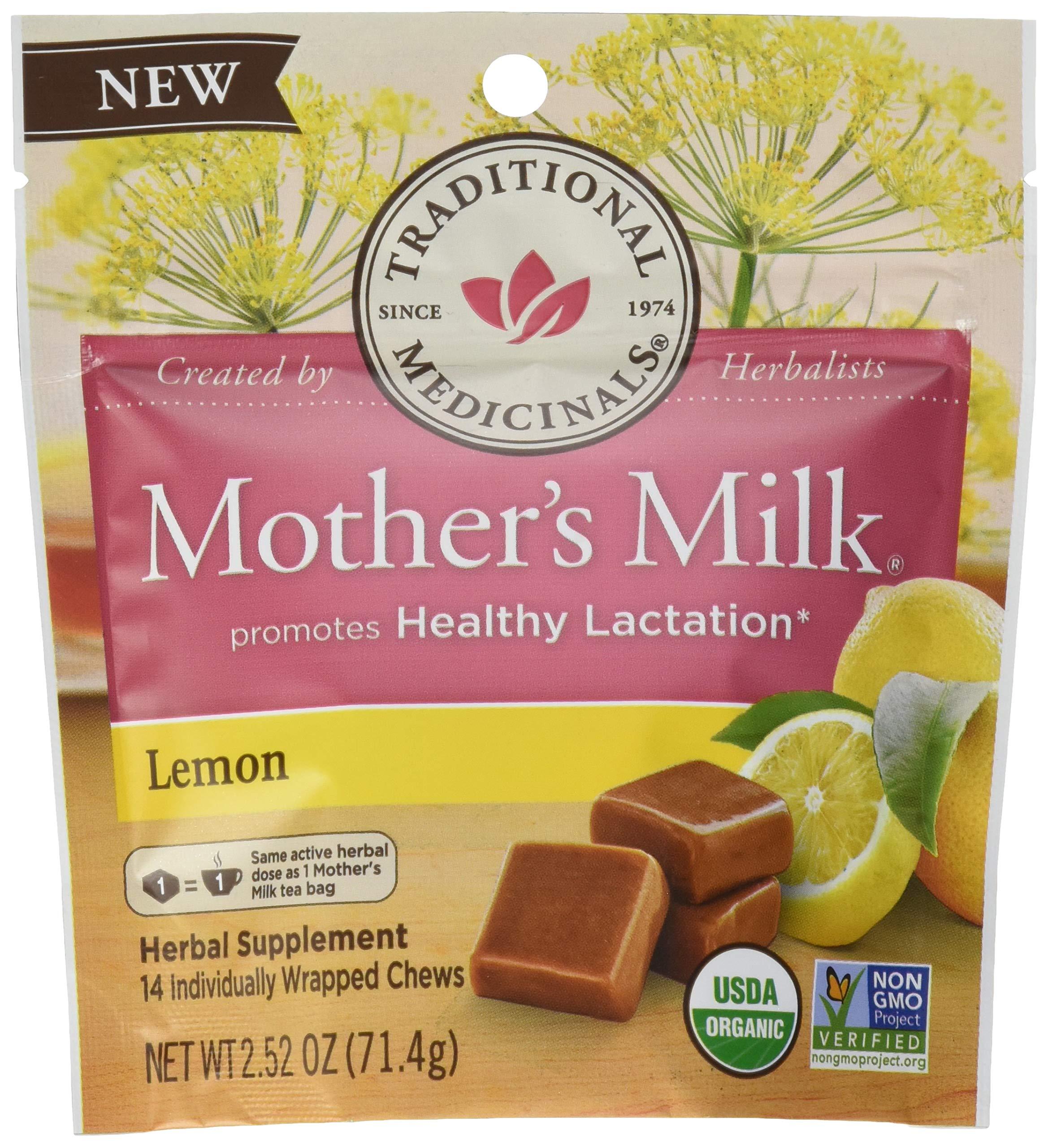 Traditional Medicinals Mother's Milk Lemon Chews, 14 Count (Pack of 6) by Traditional Medicinals