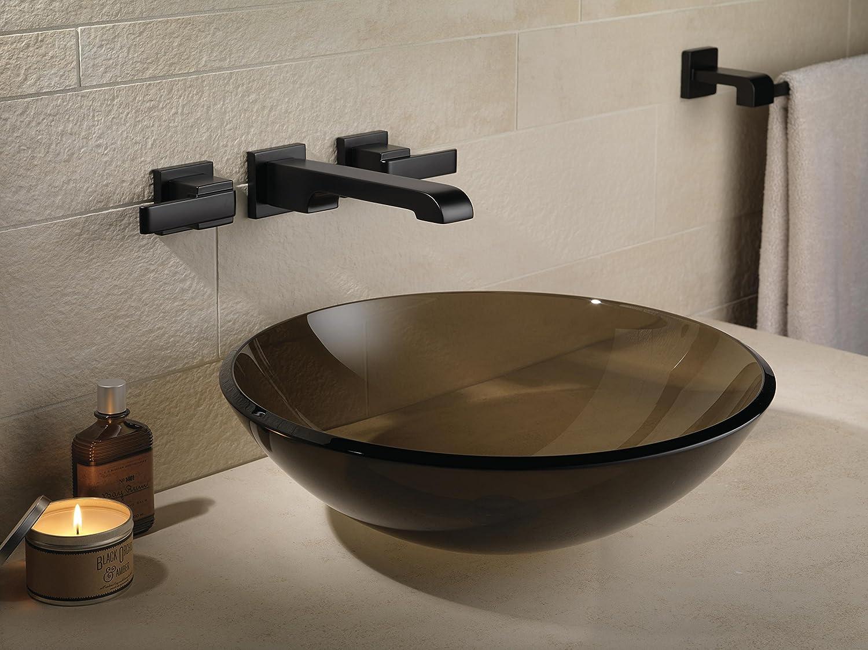 Delta Faucet T3567LF-BLWL Two Handle Wall Mount Bathroom Faucet Trim ...