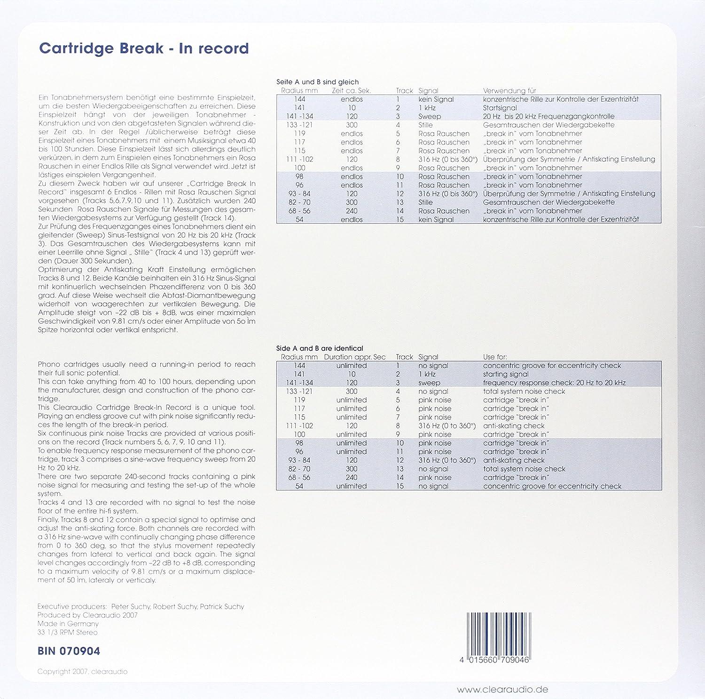 Break-in Test Record : Clearaudio Cartridge, Clearaudio: Amazon.es ...